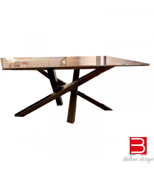 Table extensible Riflessi Shangai rectangular glass ceramic