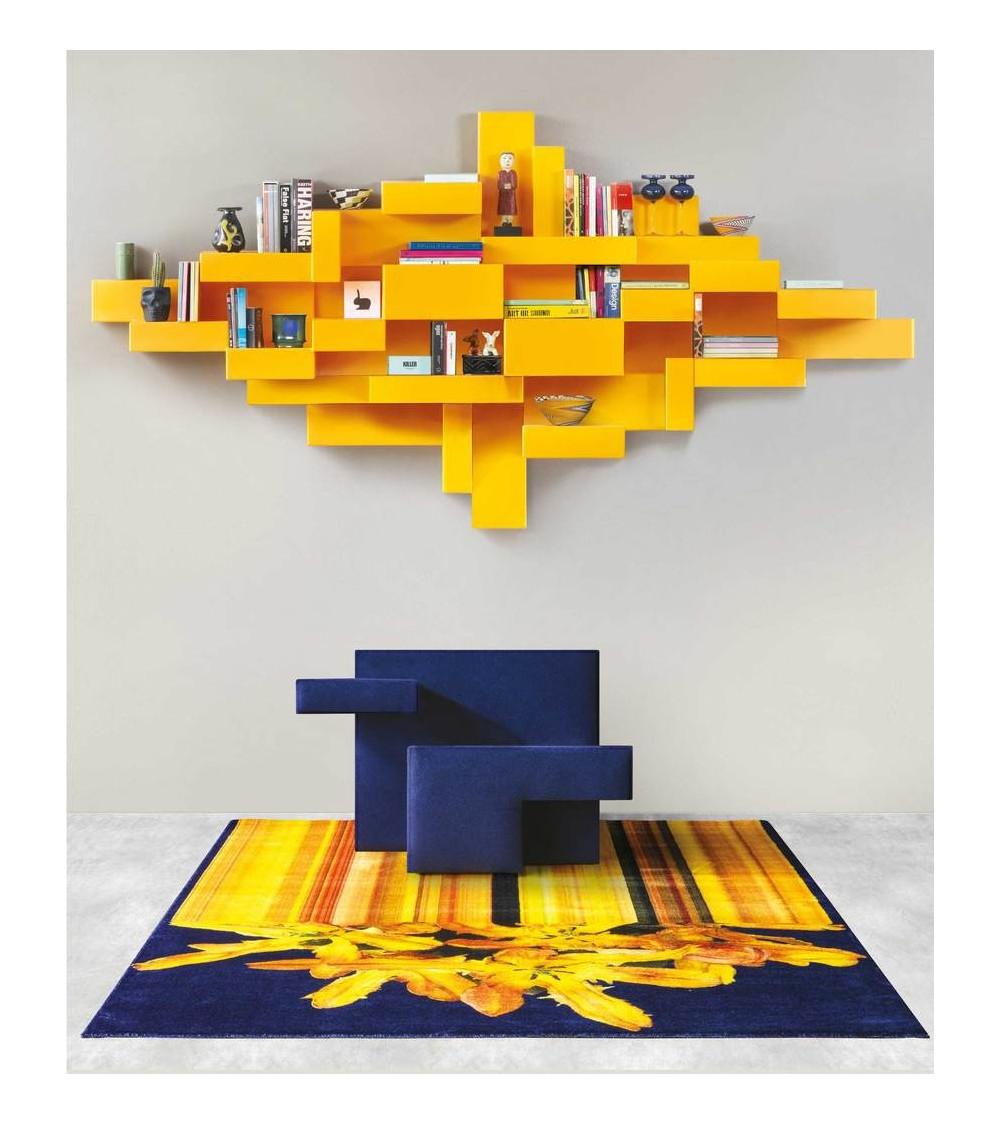 Carpets Qeeboo Glitch Yellow Rectangular