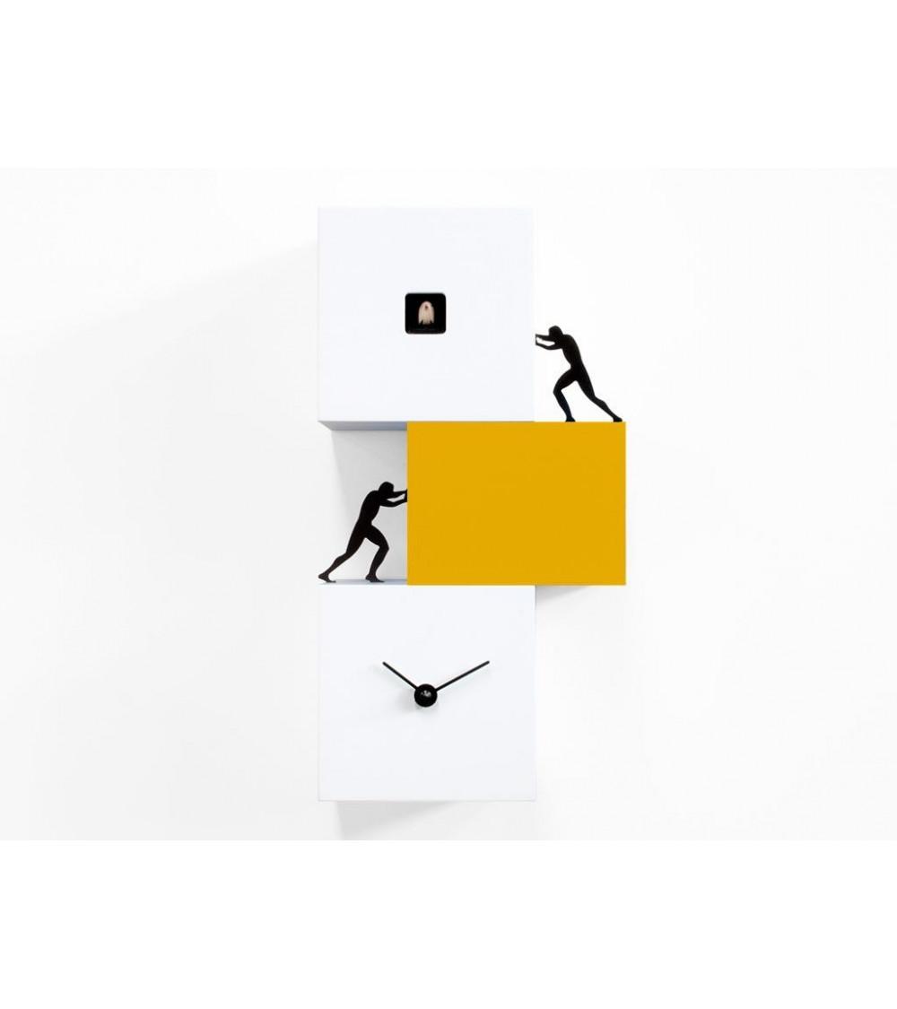 Orologio a cucù bianco e giallo Progetti 25th Strong cucù 2