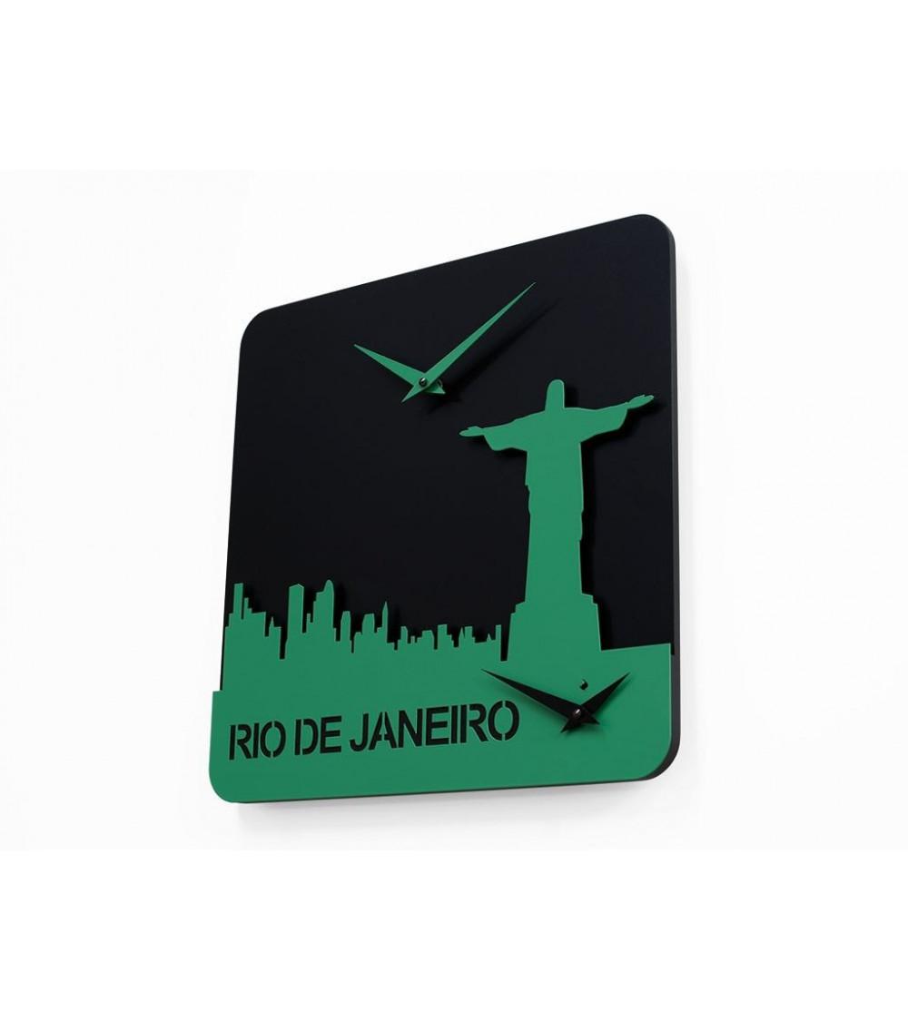 Orologio nero e verde Progetti 25th Time travel - Rio de janeiro