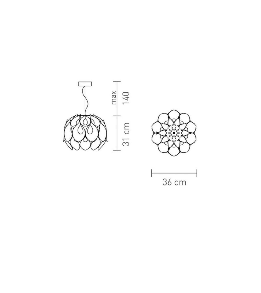 Lampada a sospensione Slamp Flora Medium/Small