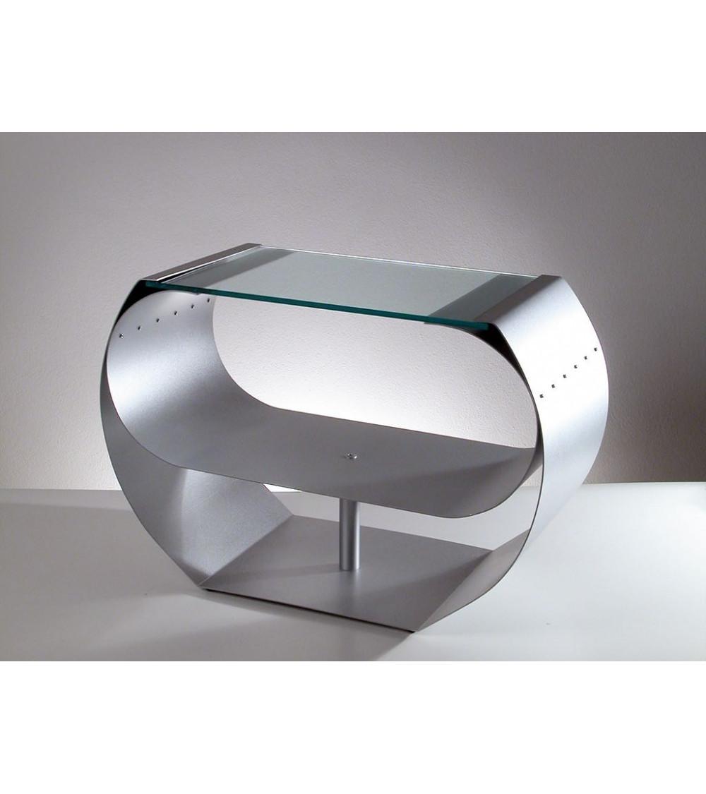 Tavolino in vetro e acciaio Progetti 25Th Ring