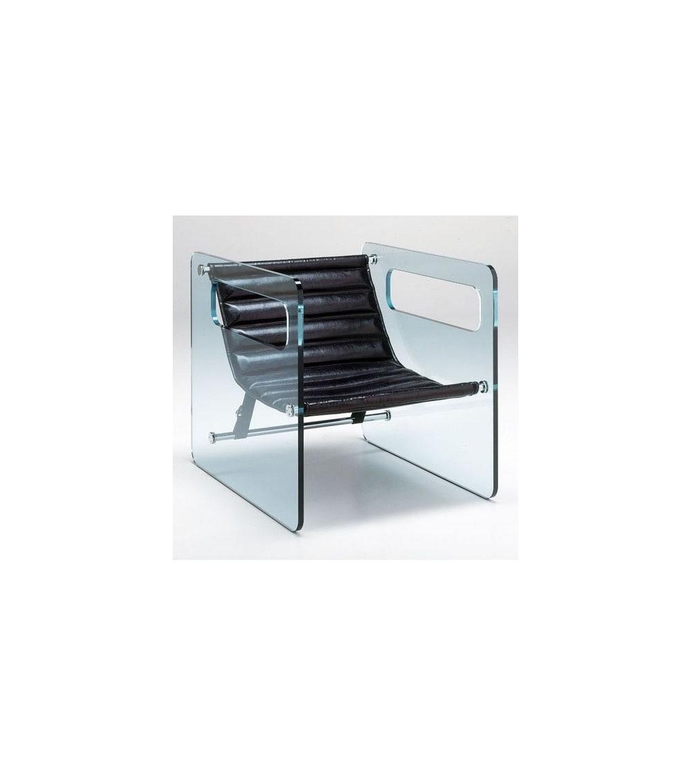 Poltrona con seduta nera Tonelli Naked