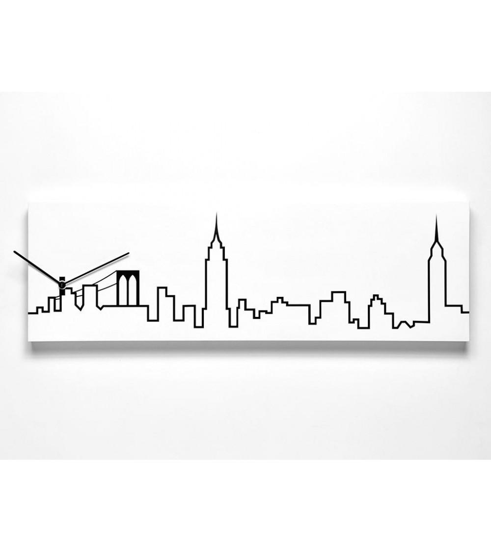 Orologio da parete New York Progetti 25th Skyline