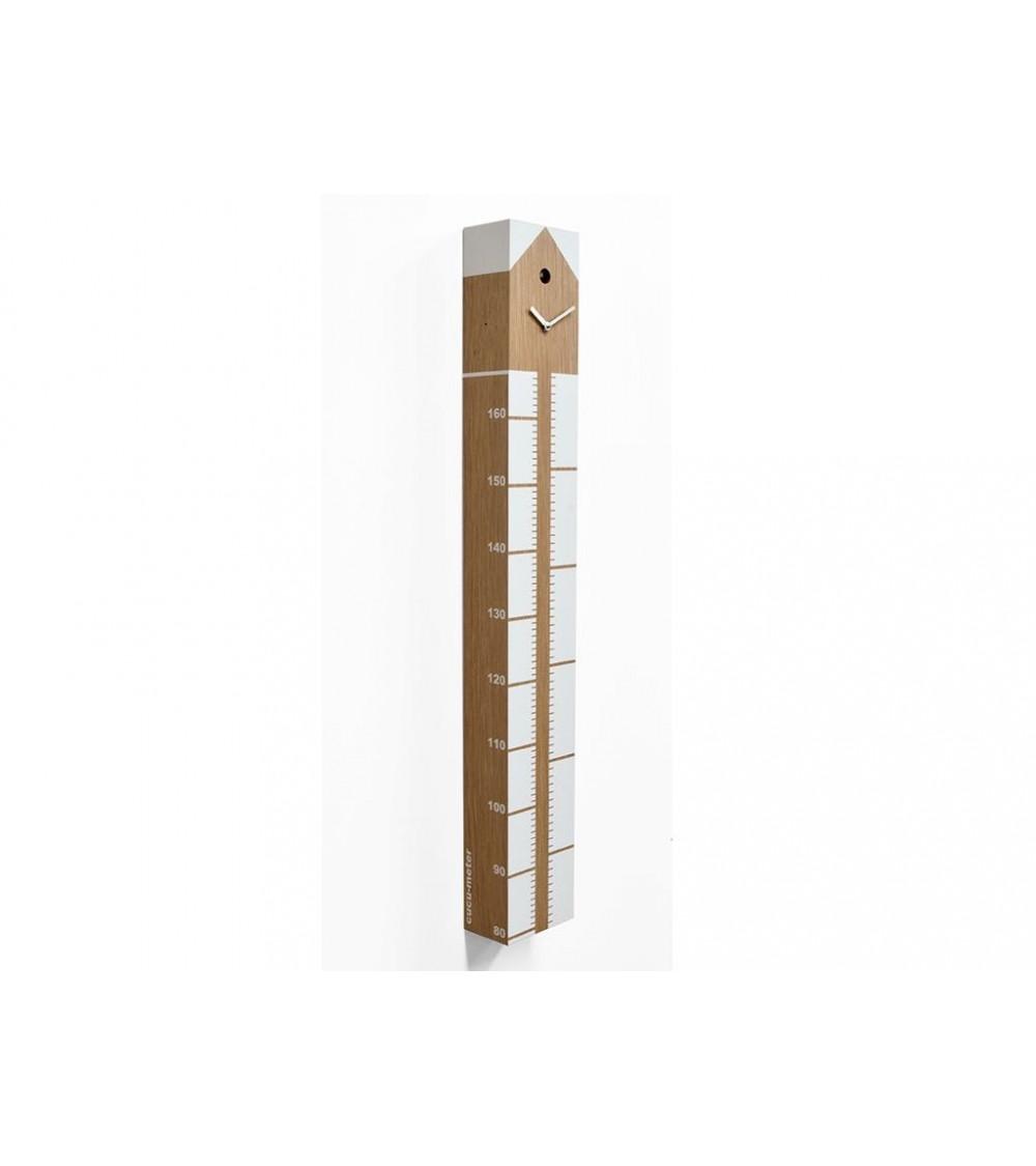 Orologio a cucù legno chiaro Progetti 25th Cucumeter