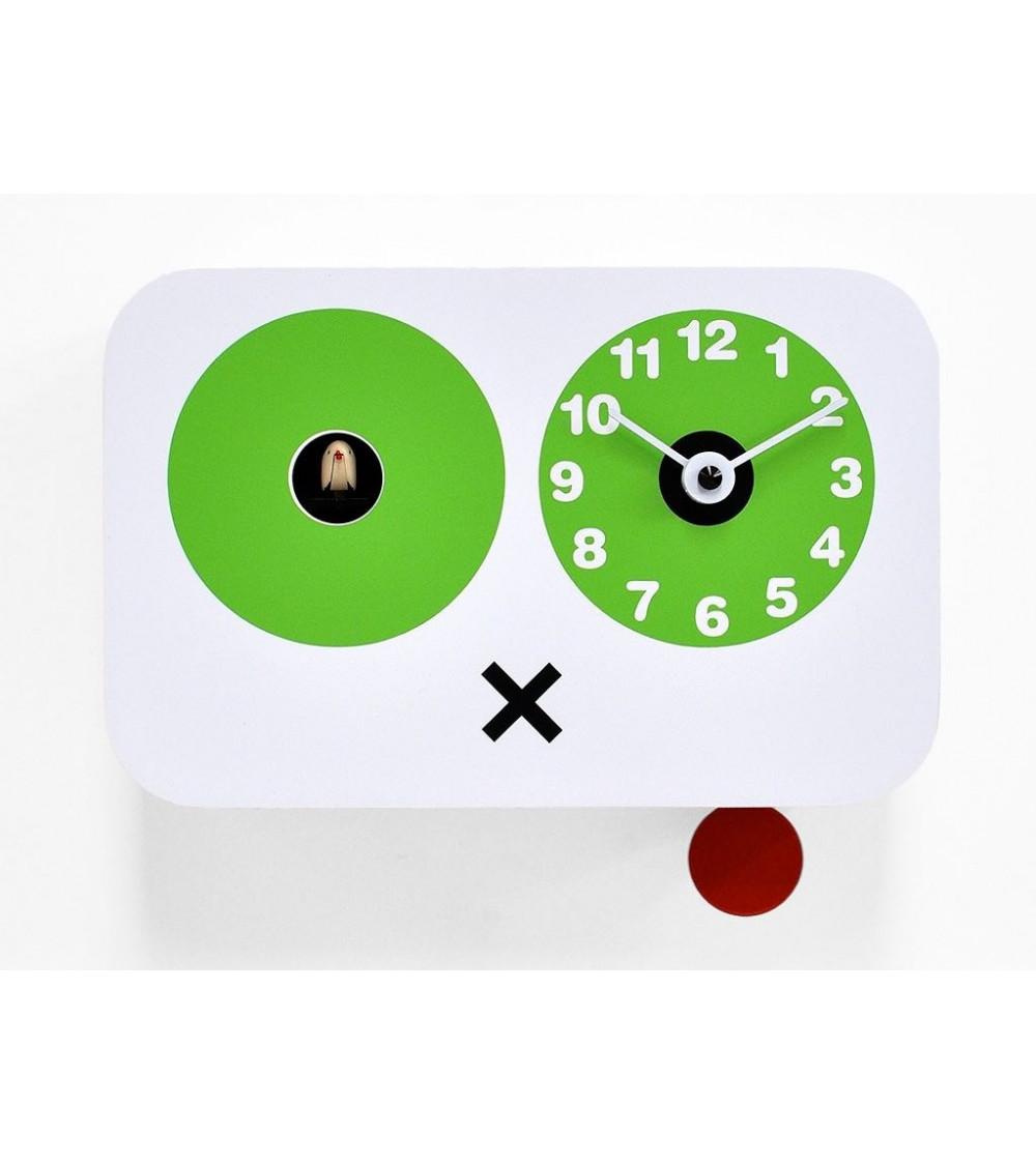 Orologio a cucù bianco e verde Progetti 25th Cucchino