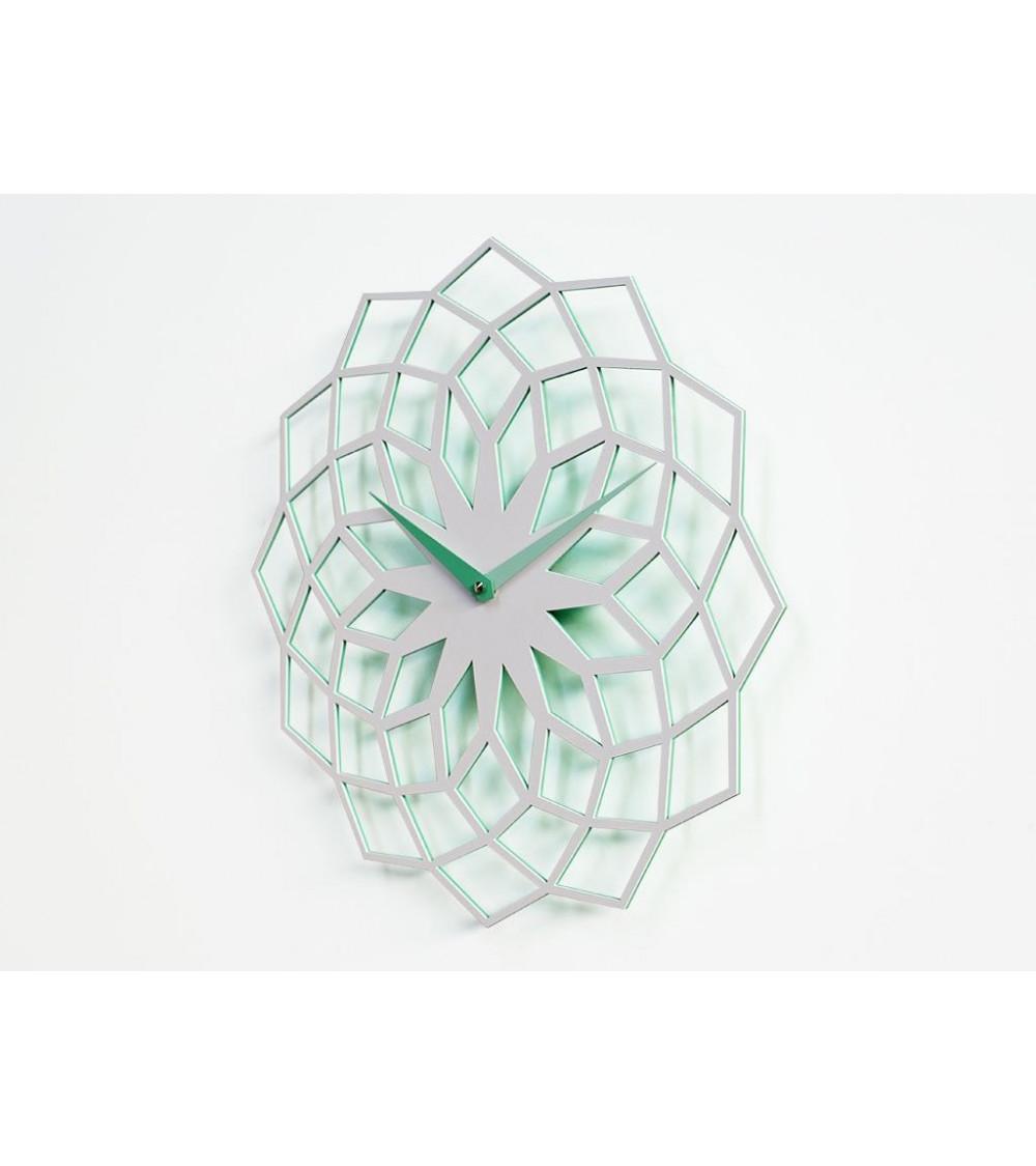 Orologio da parete bianco e verde Progetti 25th Skallop