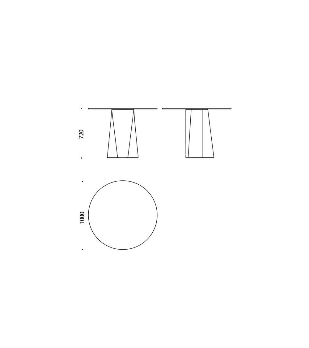 Scheda tecnica Tavolo B-Line Adam ⌀ 100/H 72