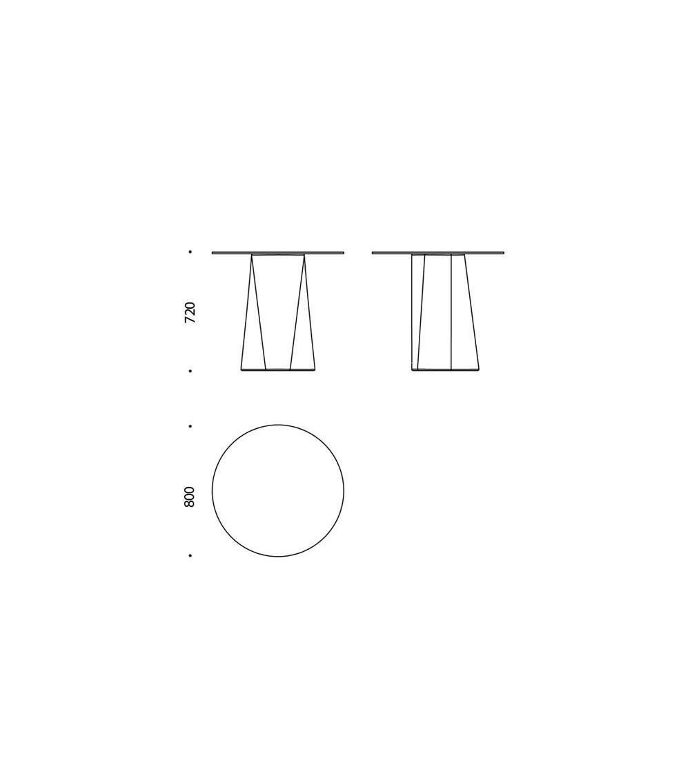 Scheda tecnica Tavolo B-Line Adam ⌀ 80/H 72