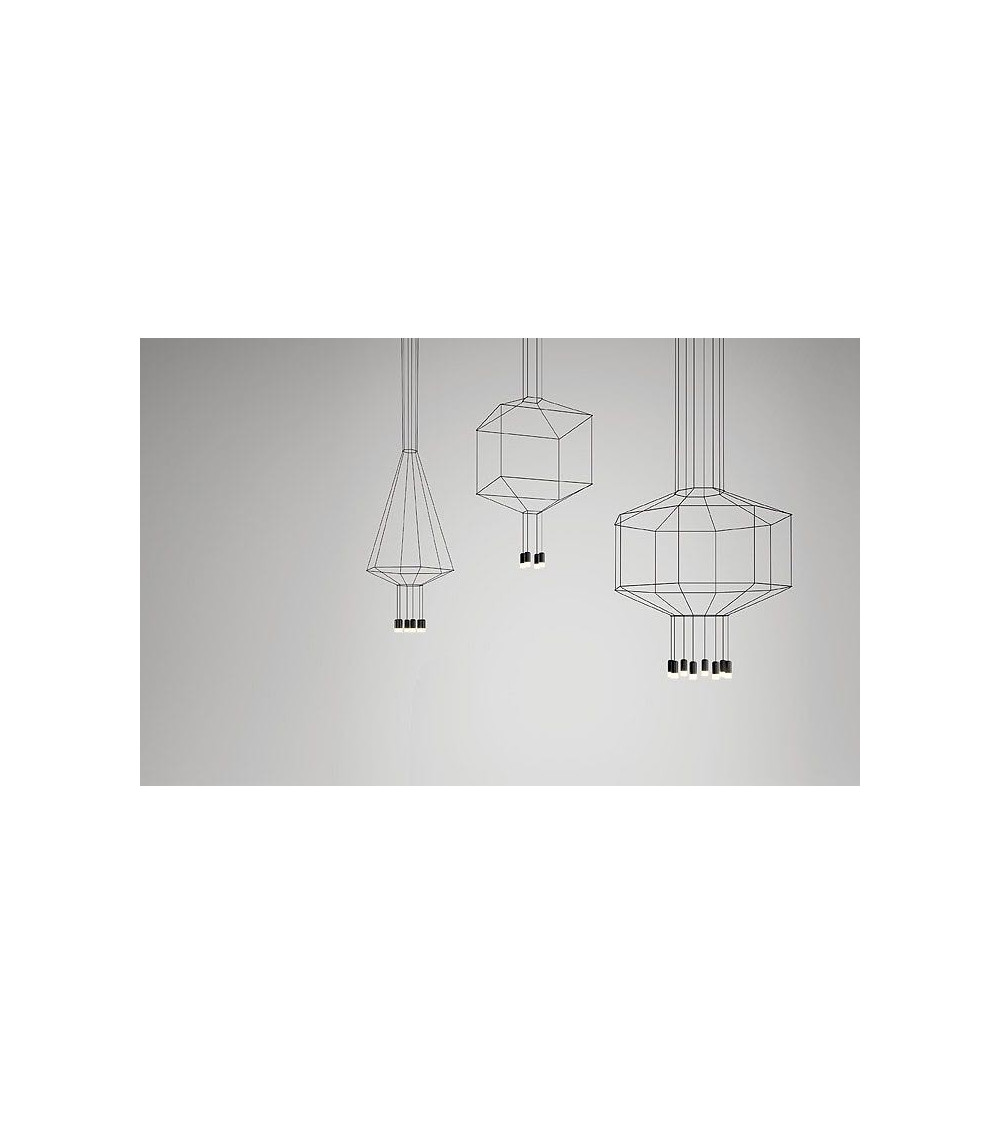 Lampe suspension Vibia Wireflow 8 Led