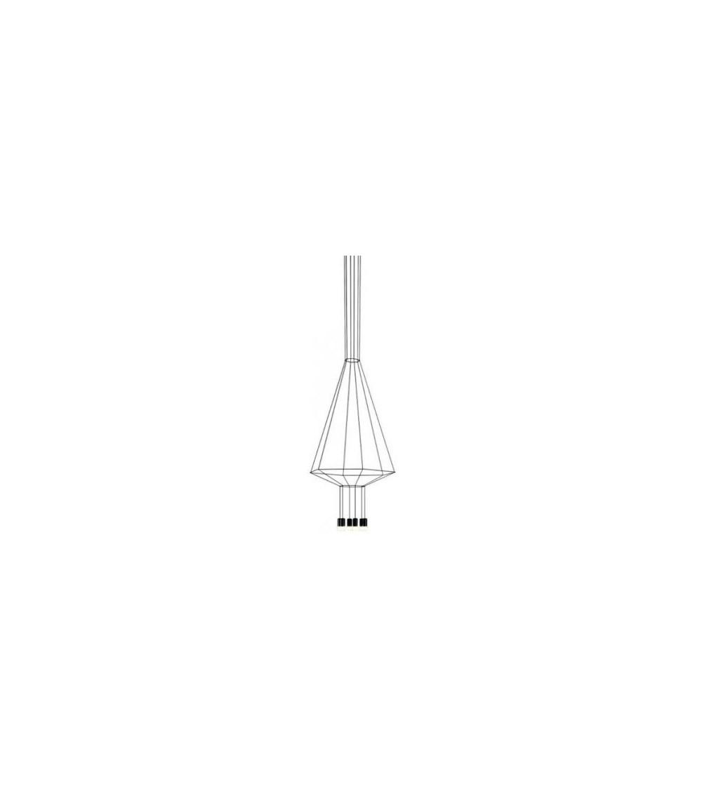 Pendant lamp Vibia Wireflow