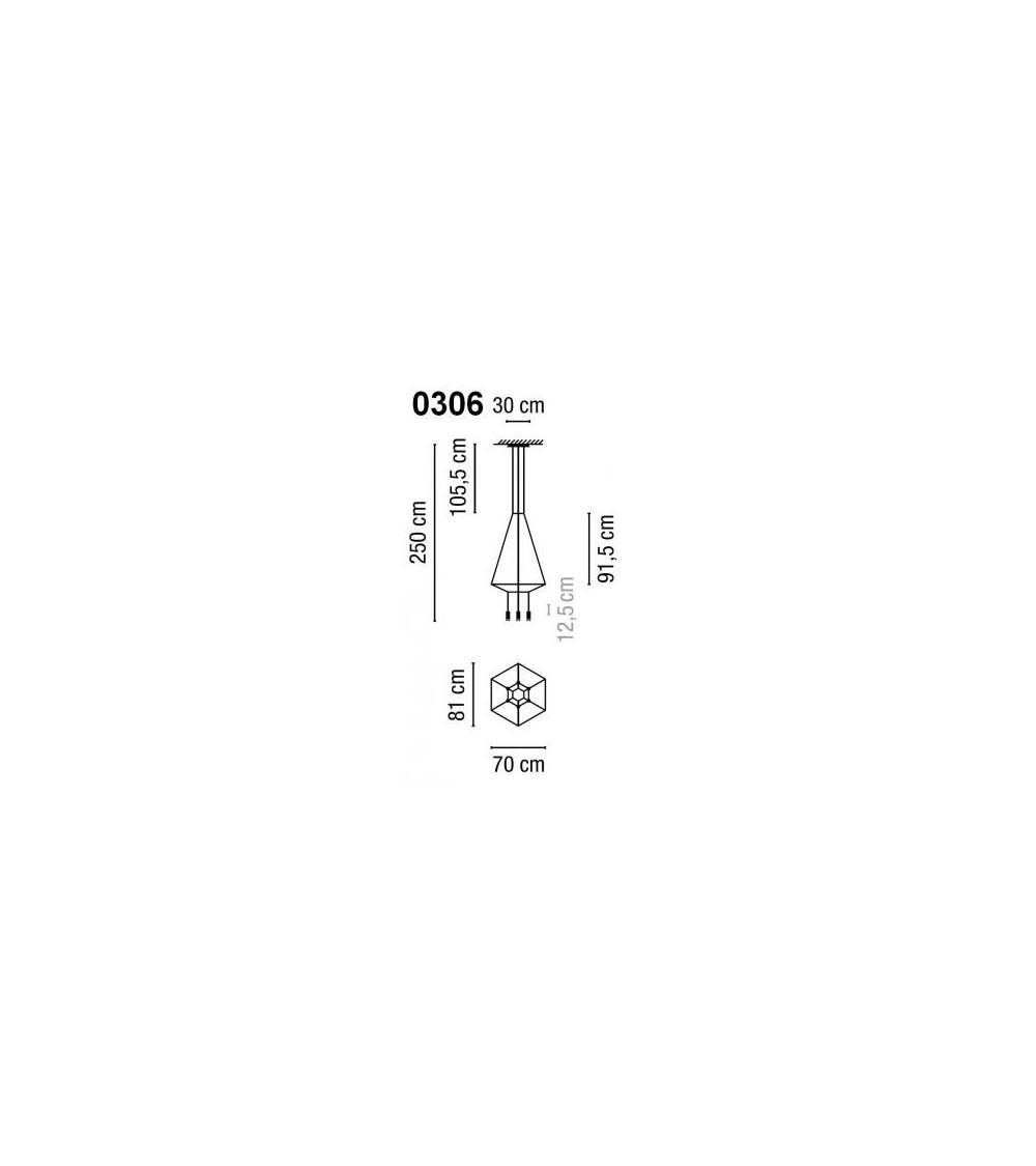 Lámpara pendiente Vibia Wireflow