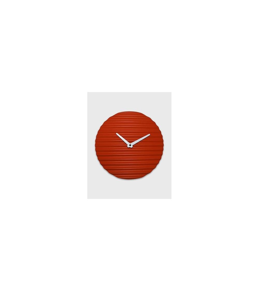Wanduhr Sabrina Fossi Wave Clock red
