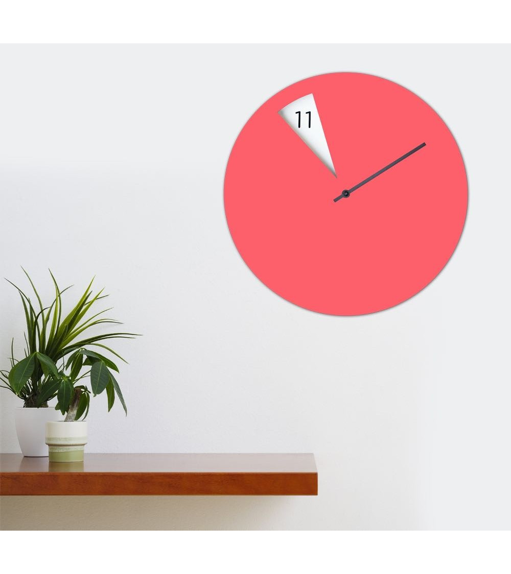 Reloj de pared Sabrina Fossi FreakishCLOCK Pinkish