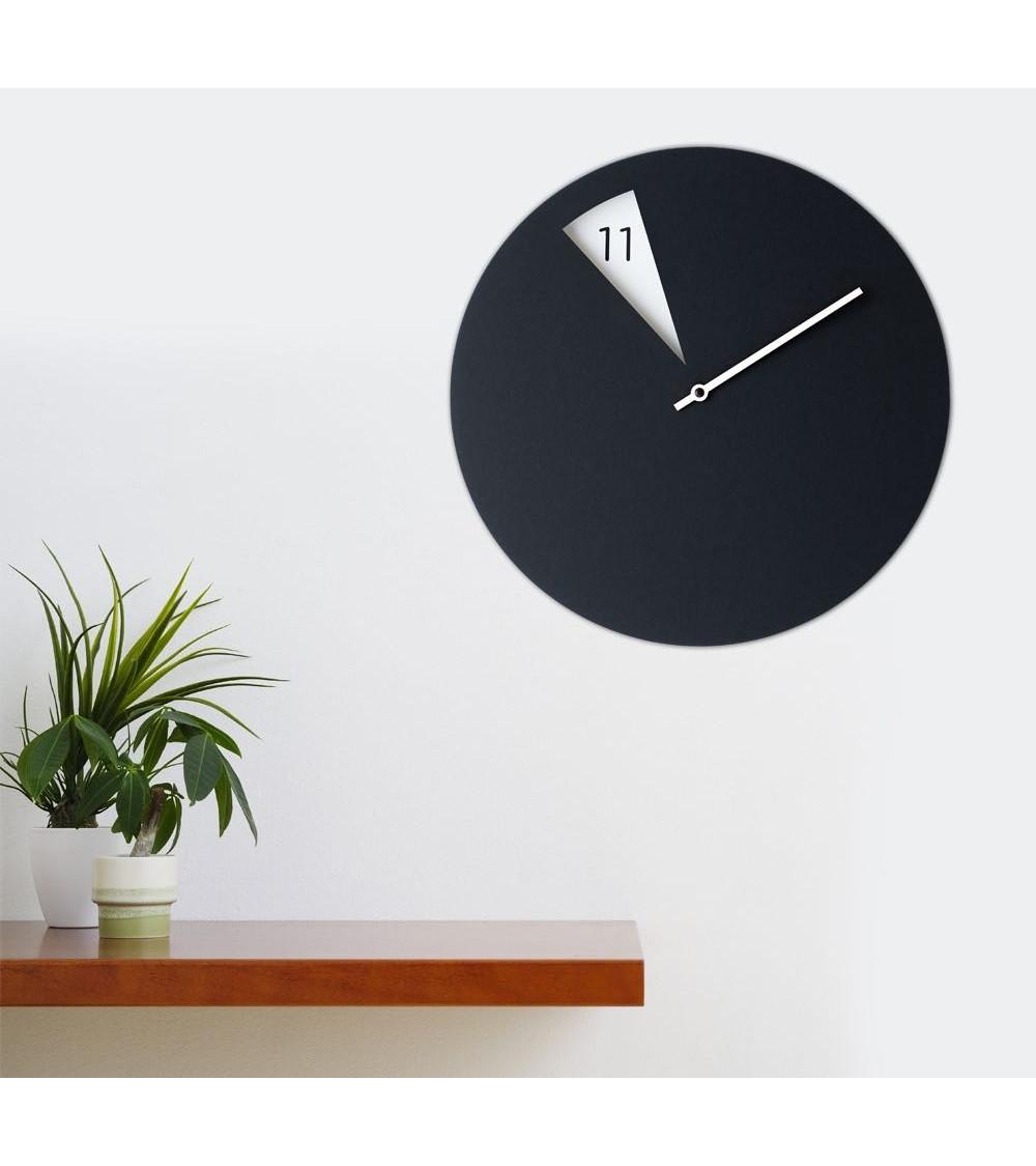 Reloj de pared Sabrina Fossi FreakishCLOCK black-white
