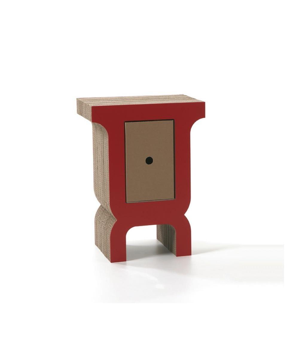 Tavolino rosso Kubedesign Edoardo 58