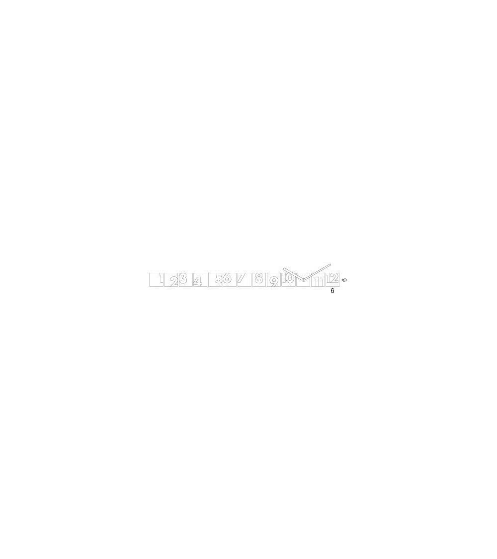 Scheda tecnica Orologio da parete Progetti 25th year rnd_time