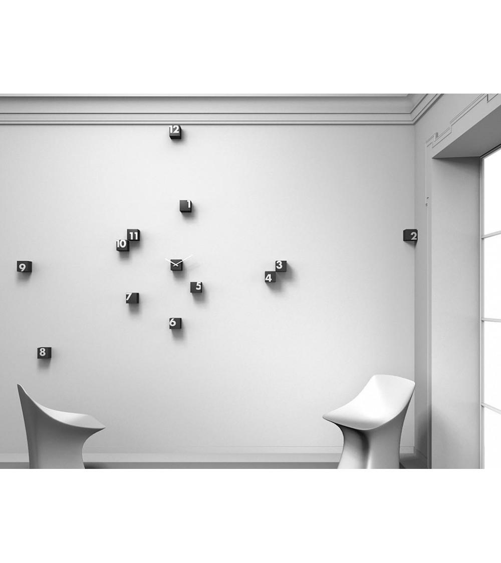 Orologio da parete nero Progetti 25th year rnd_time