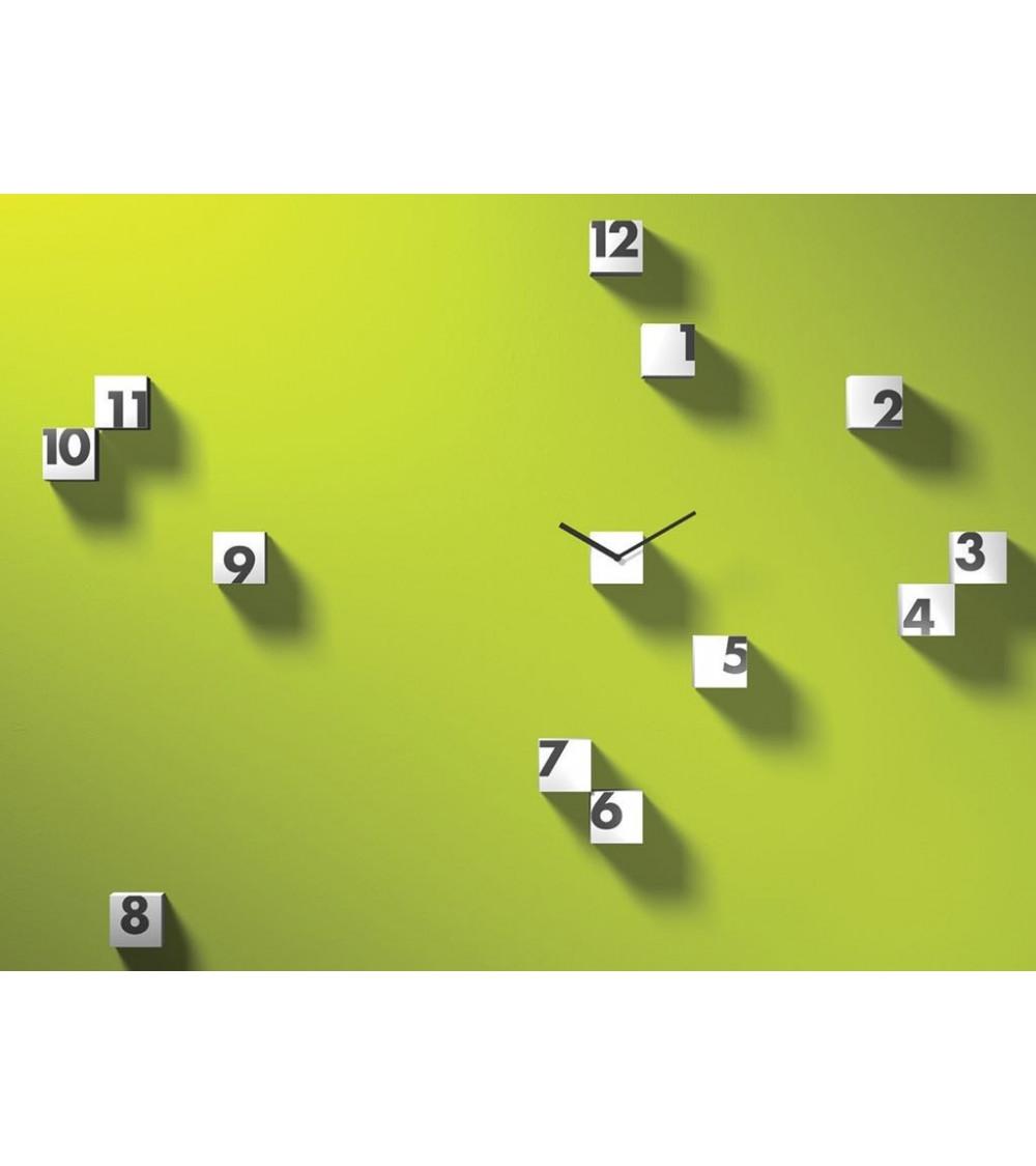 Orologio bianco da parete Progetti 25th year rnd_time