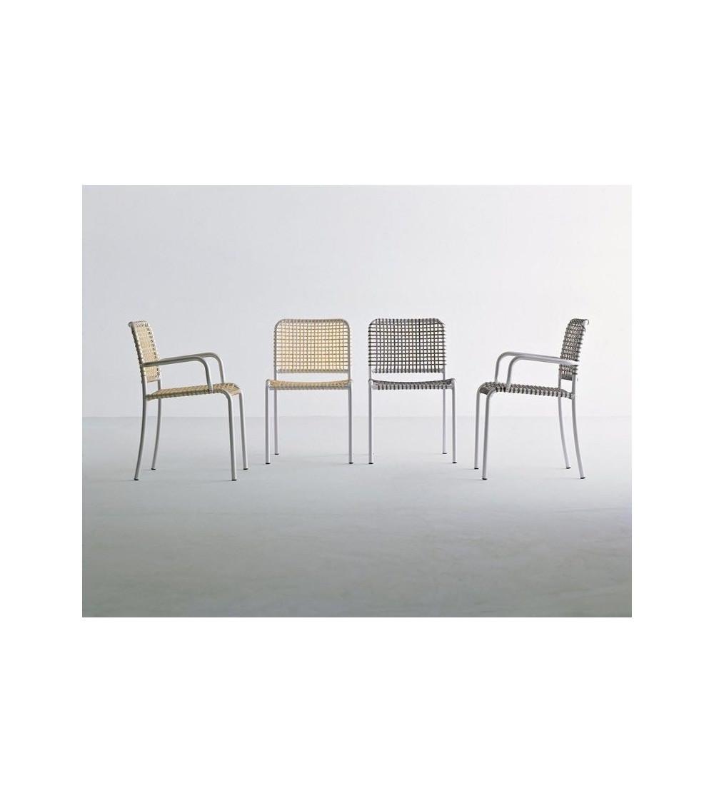 gervasoni sedie moderne di alluminio allu 24 I / 224 I