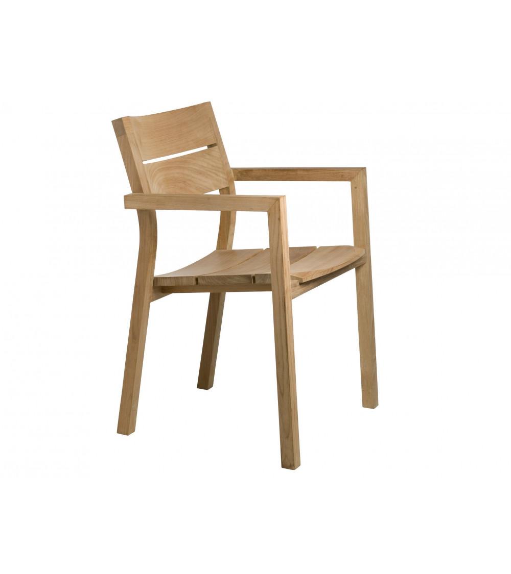 Chaise avec accoudoirs Tribù Kos Teak