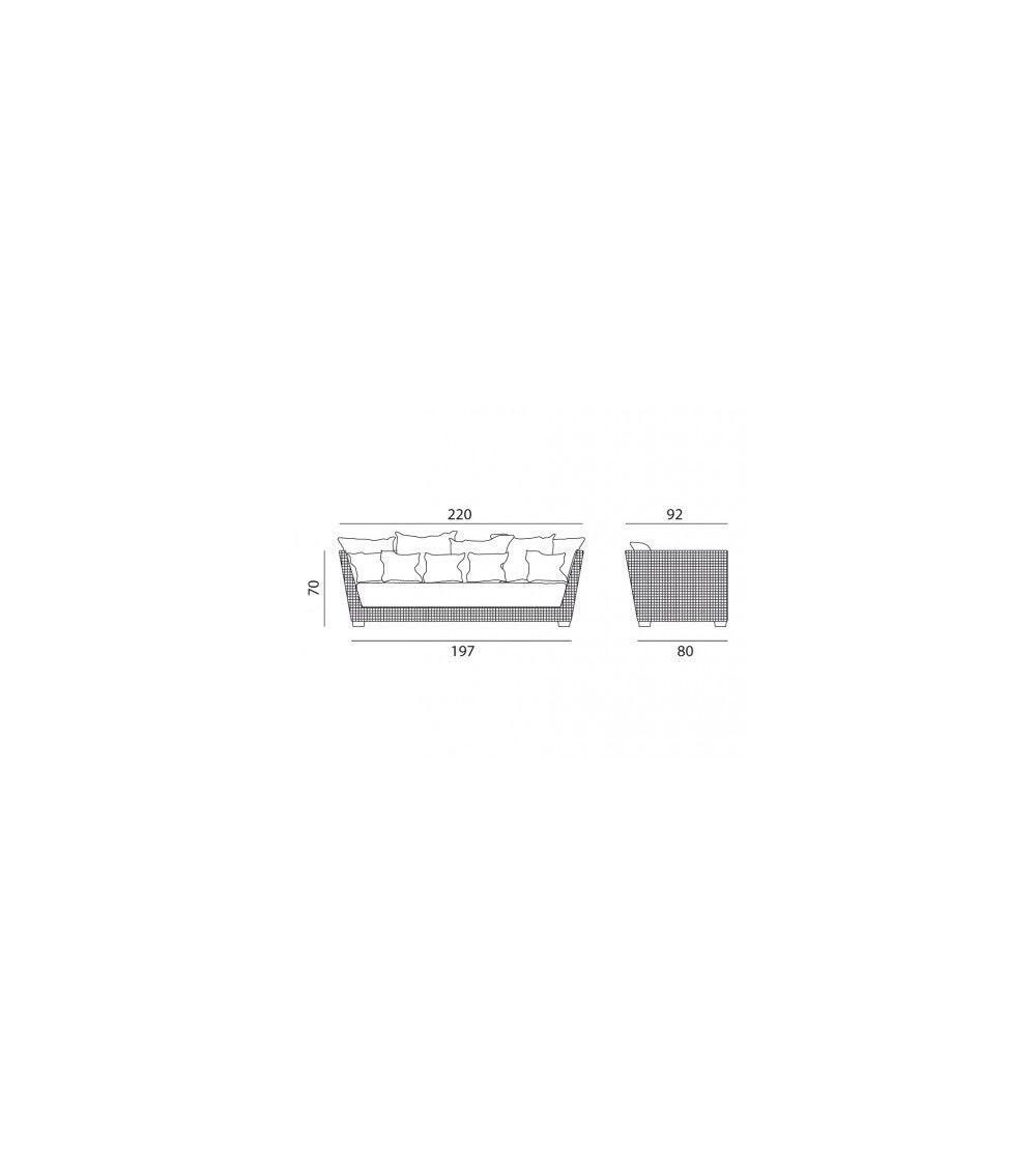 gervasoni divano in alluminio inout 503