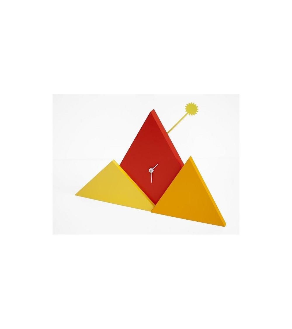Orologio da parete arancio e rosso Progetti th Sunset