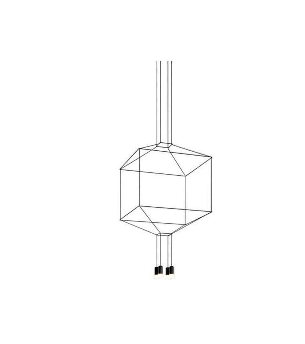 Pendant lamp Vibia Wireflow 4Led