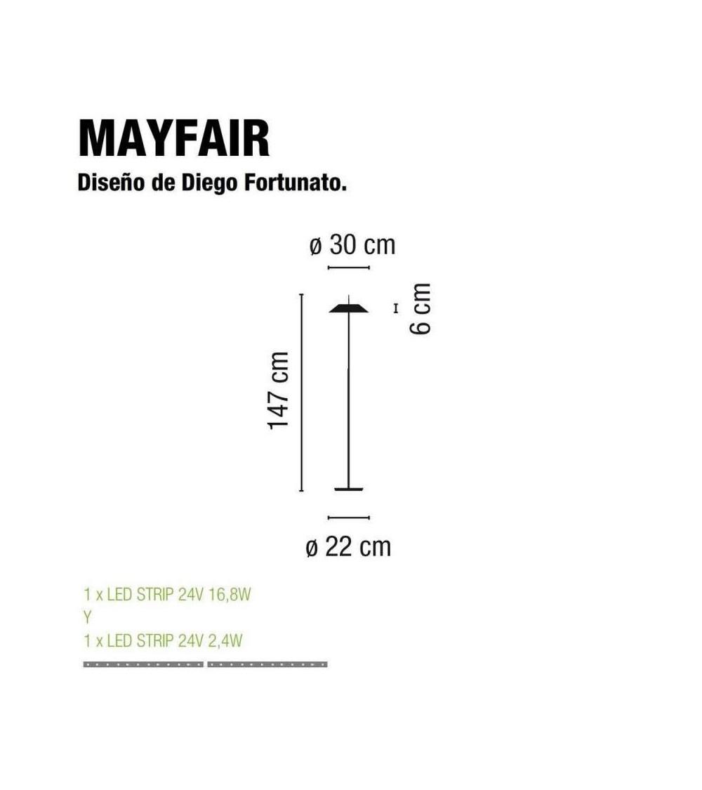 lampe au sol Vibia Mayfair 5515