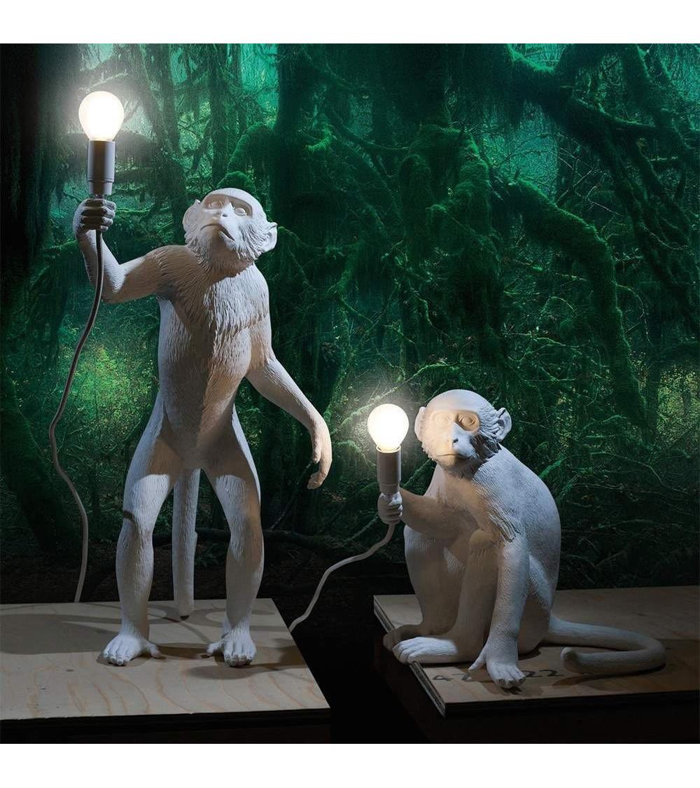 lámpara de pie Seletti monkey lamp-in piedi