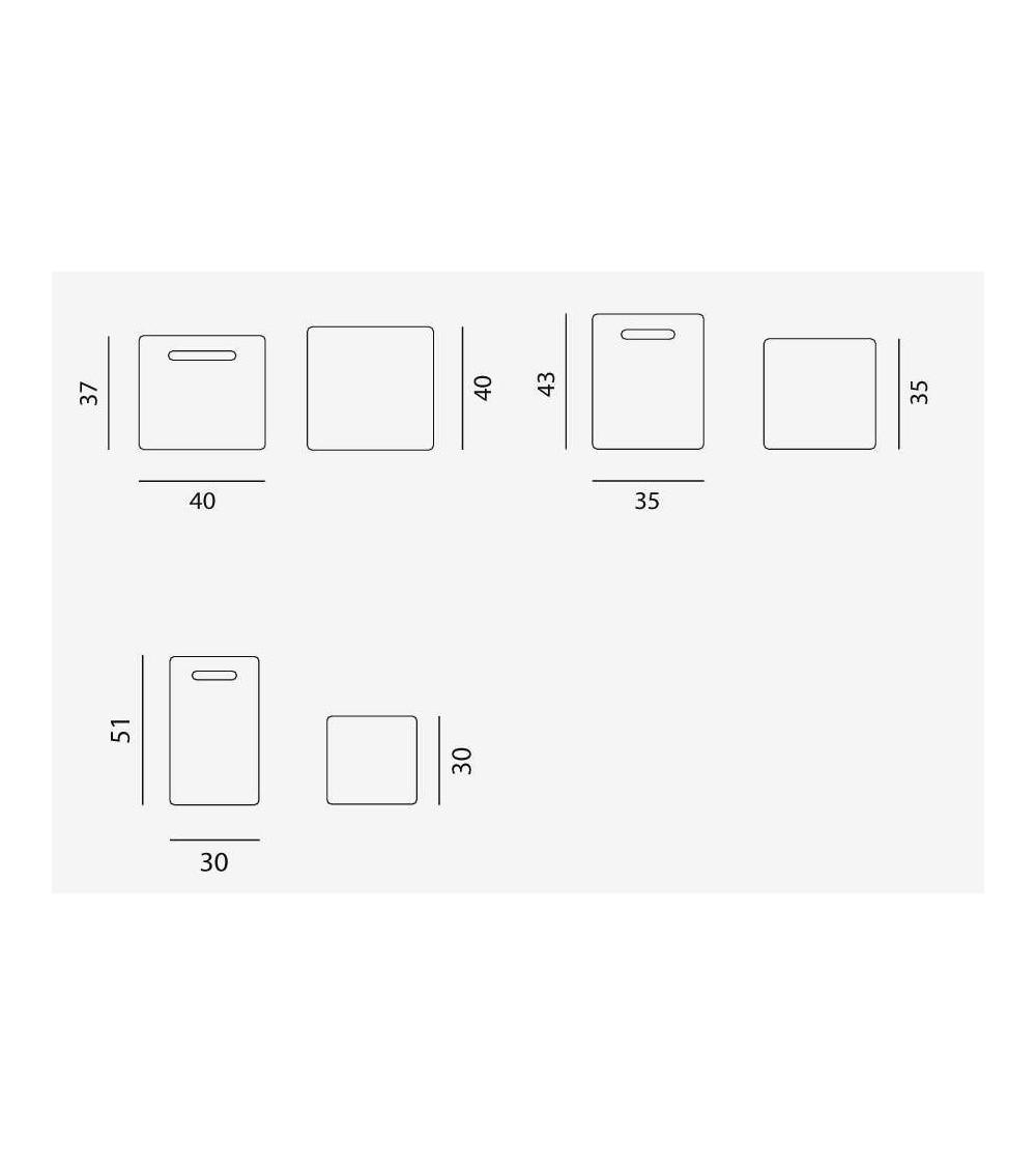 tavolini in ceramica gervasoni inout 41/42/43