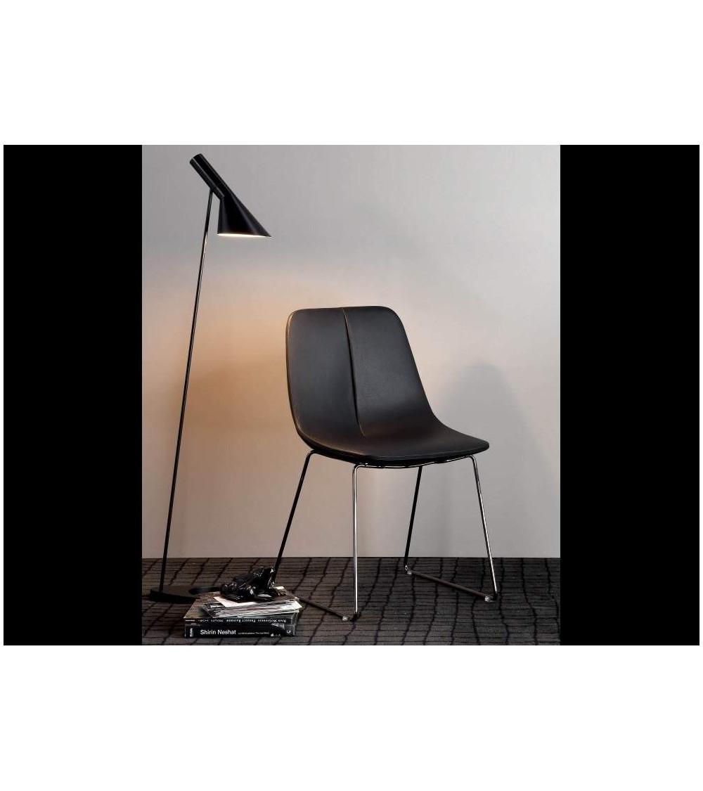 Chair Bonaldo By SI legs in chromed metal / black nickel