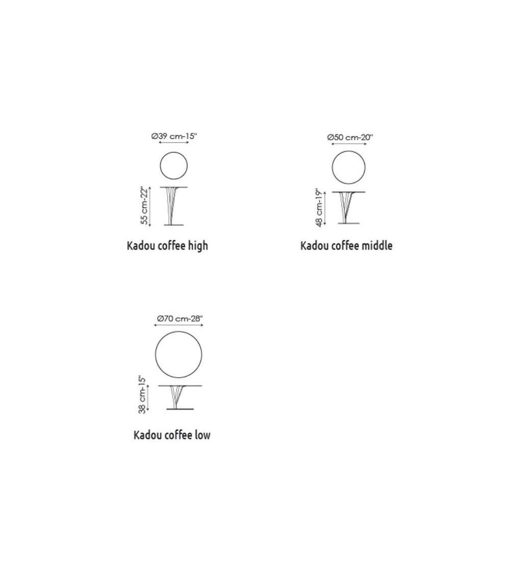 Table basse Bonaldo Kadou Coffee