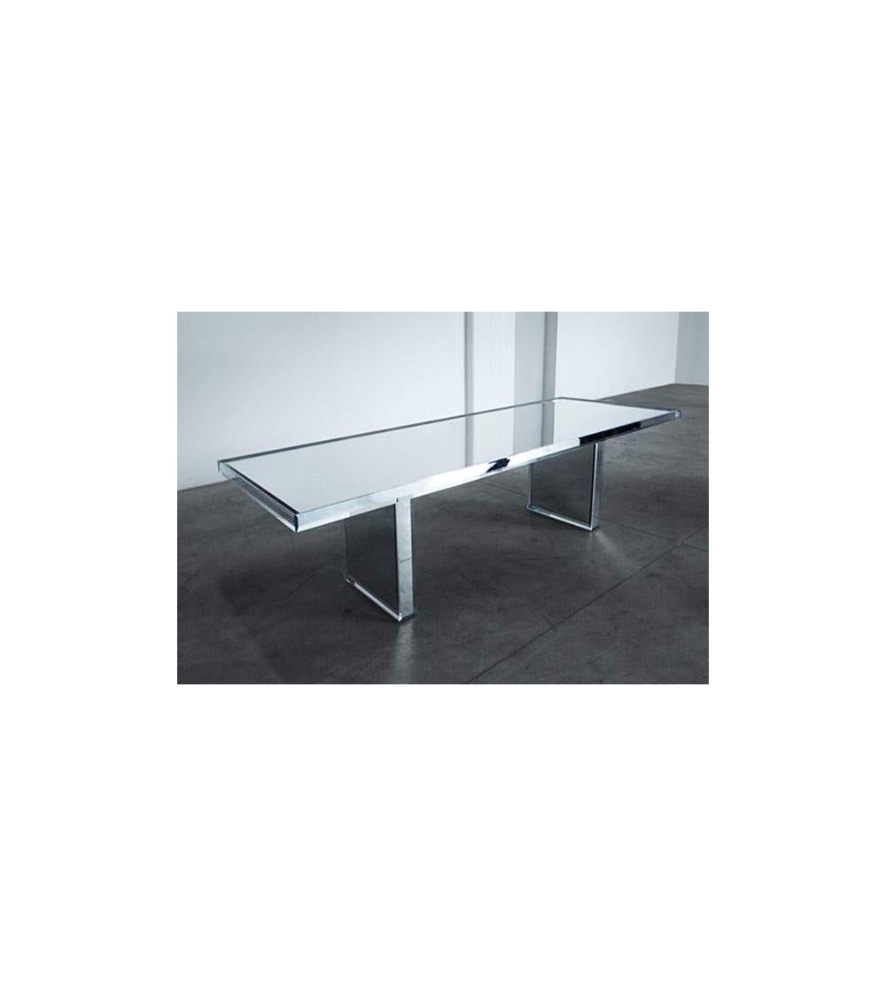 Tisch Glas Italia Prism mirror table