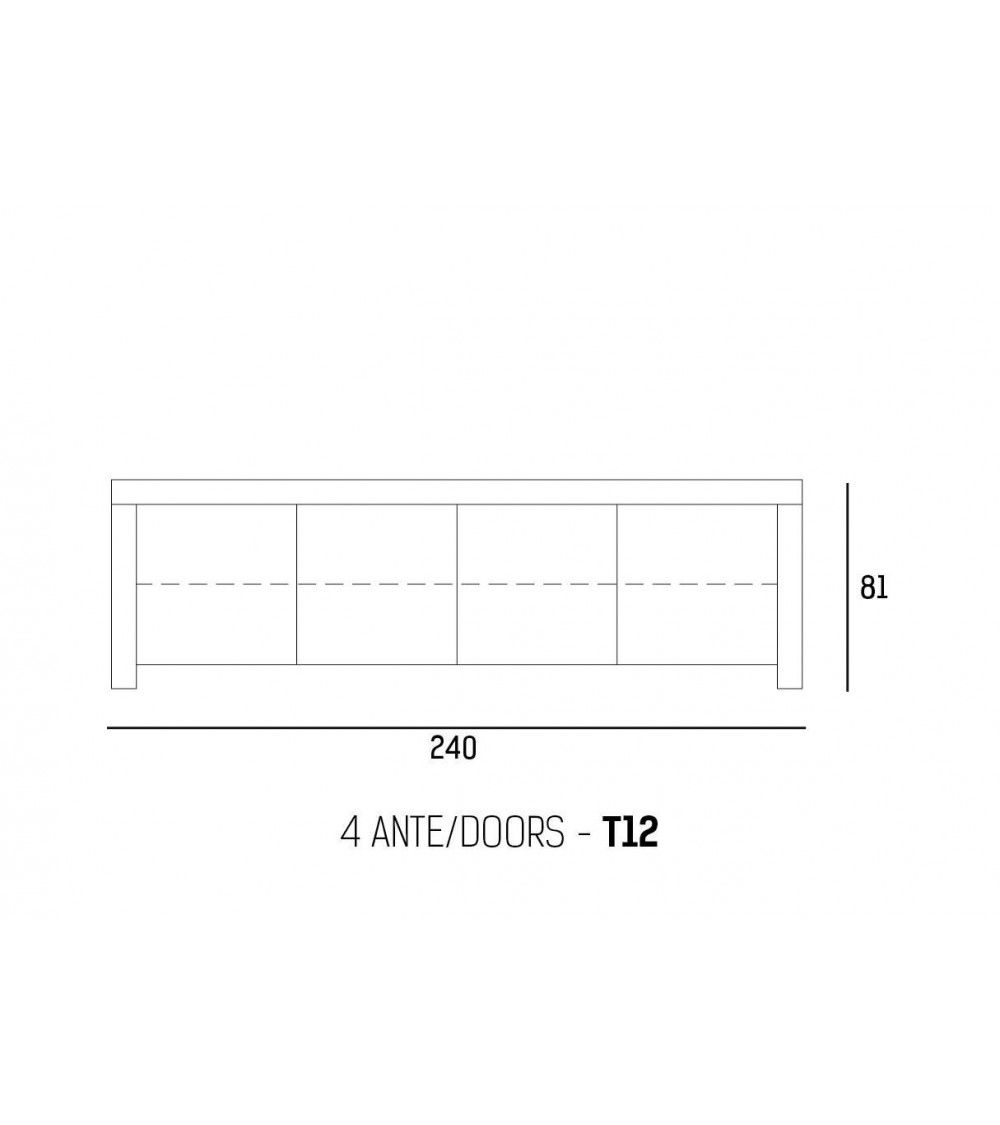 Sideboard Riflessi TWood 240x50xH81cm