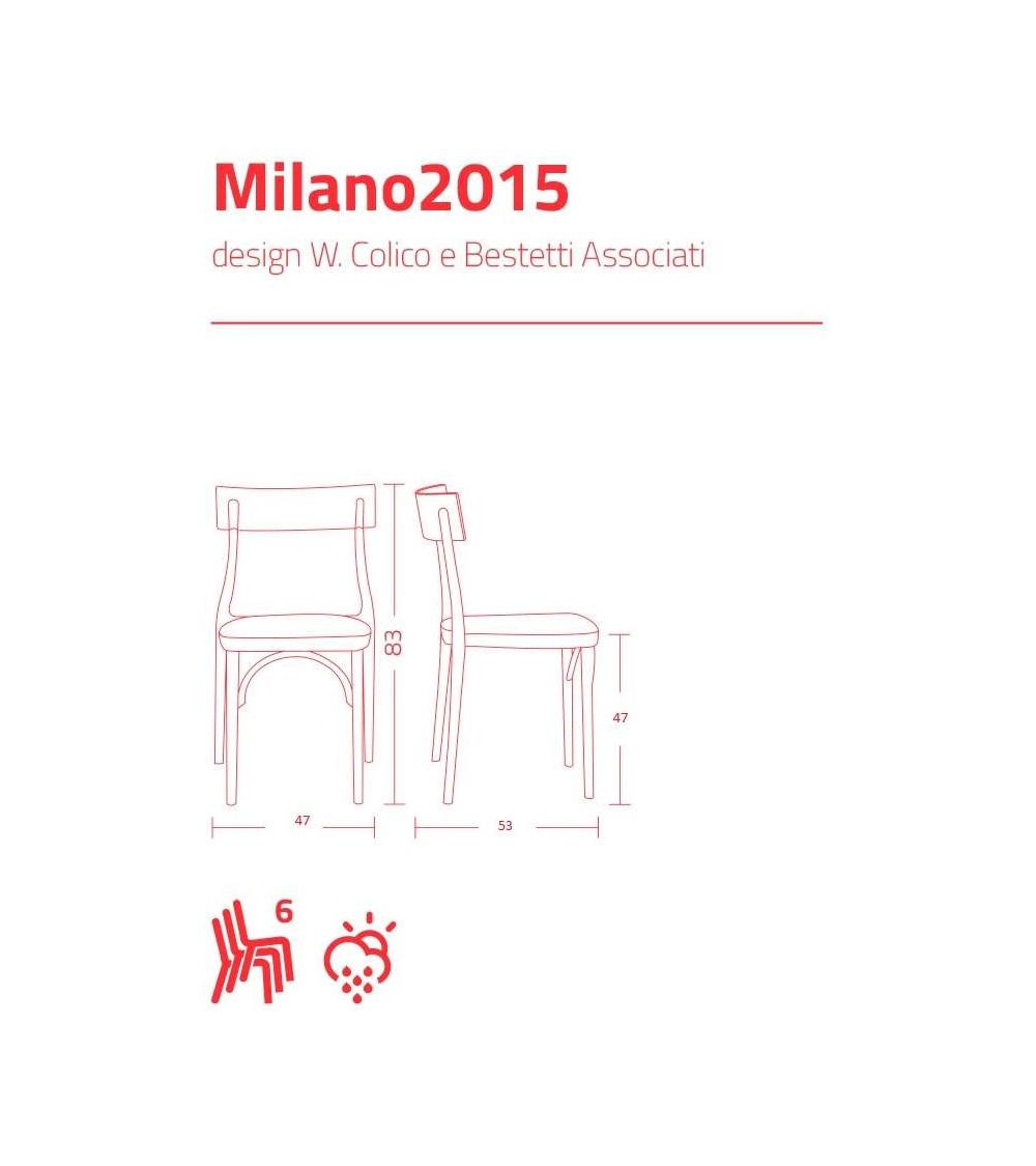 Scheda tecnica Sedia Colico Milano 2015