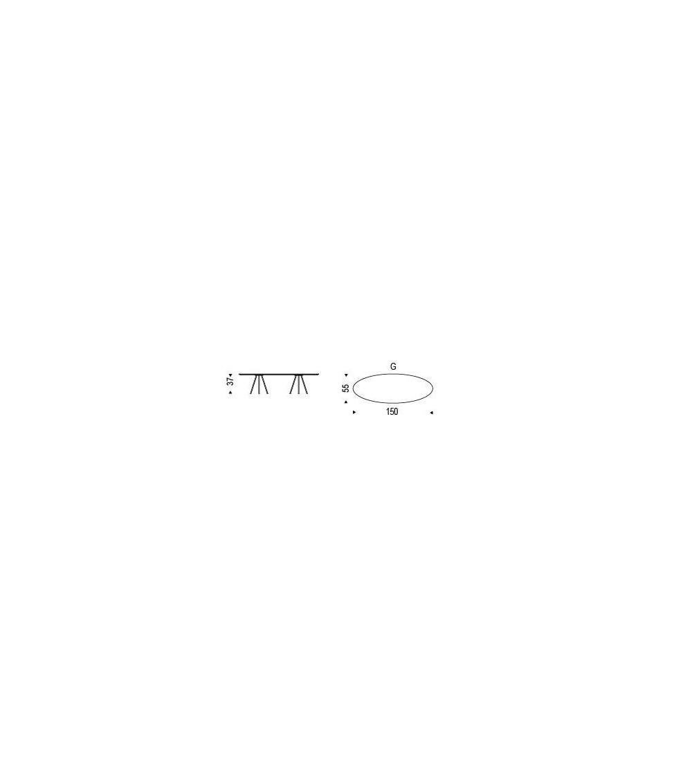 Tavolino Cattelan Kaos ovale