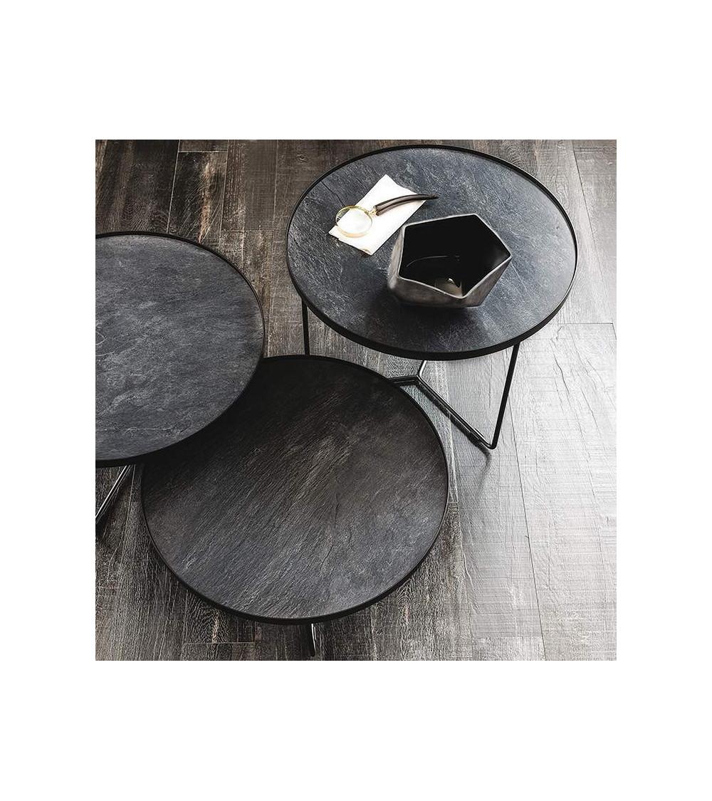 Tavolino Cattelan Billy Keramik rotondo