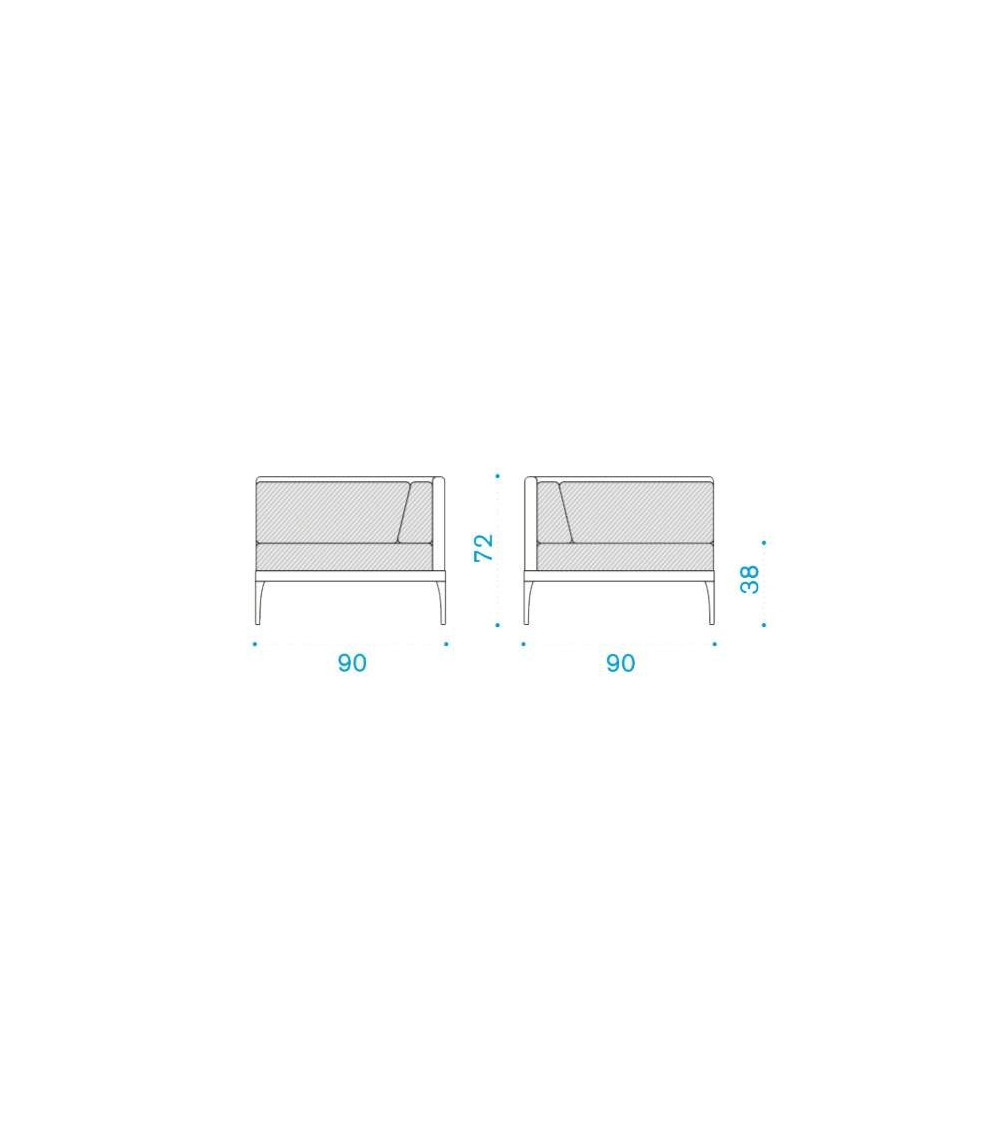 Sessel Modul Winkel nach rechts oder links Ethimo Unen