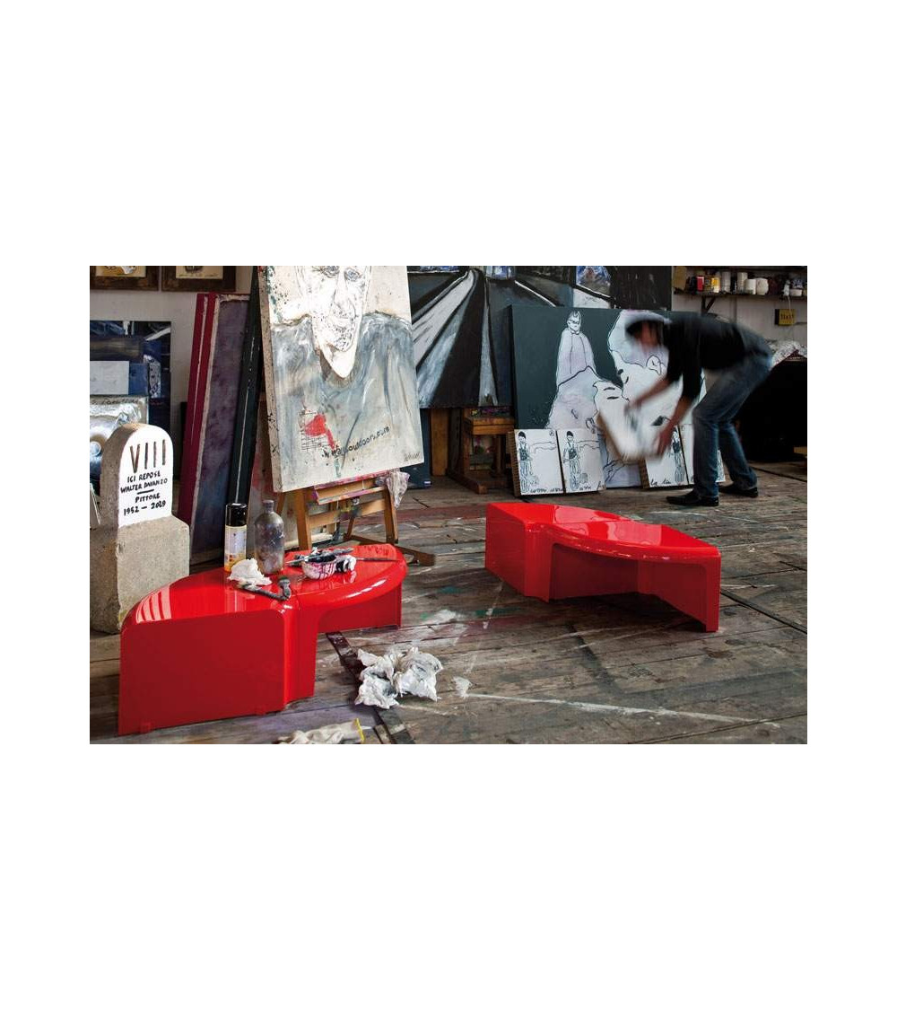 Tavolino rosso in ABS B-Line 4/4
