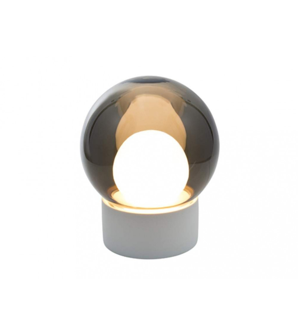 Lampada da tavolo base bianca  Boule Small