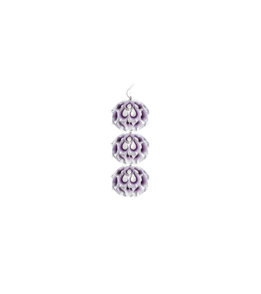 Lampada a sospensione Purple Slamp Flora Triple