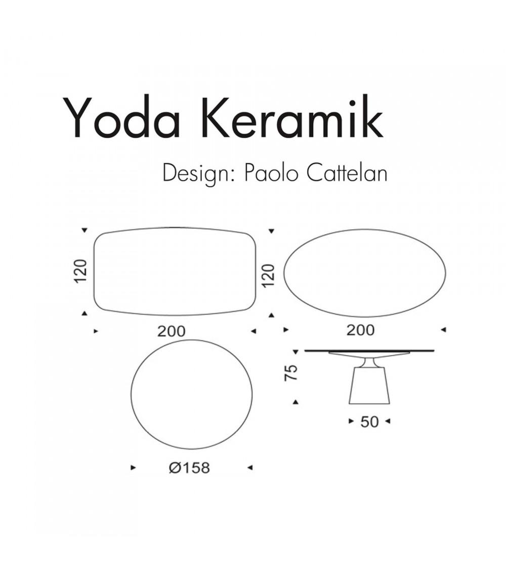 Table Cattelan Yoda Keramik