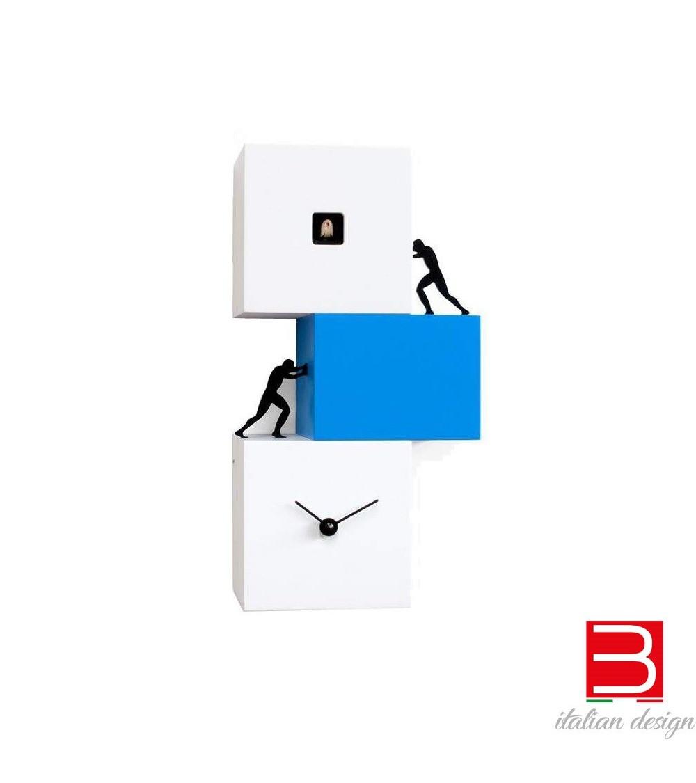Orologio a cucù bianco e azzurro Progetti 25th Strong cucù 2