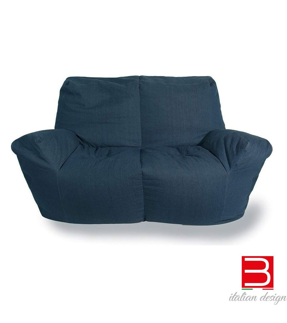 Sofa in denim Progetti 25th years Open Legs