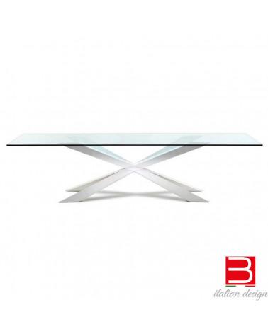 Tisch CattelanSpyder top extra-clear glass bevelled