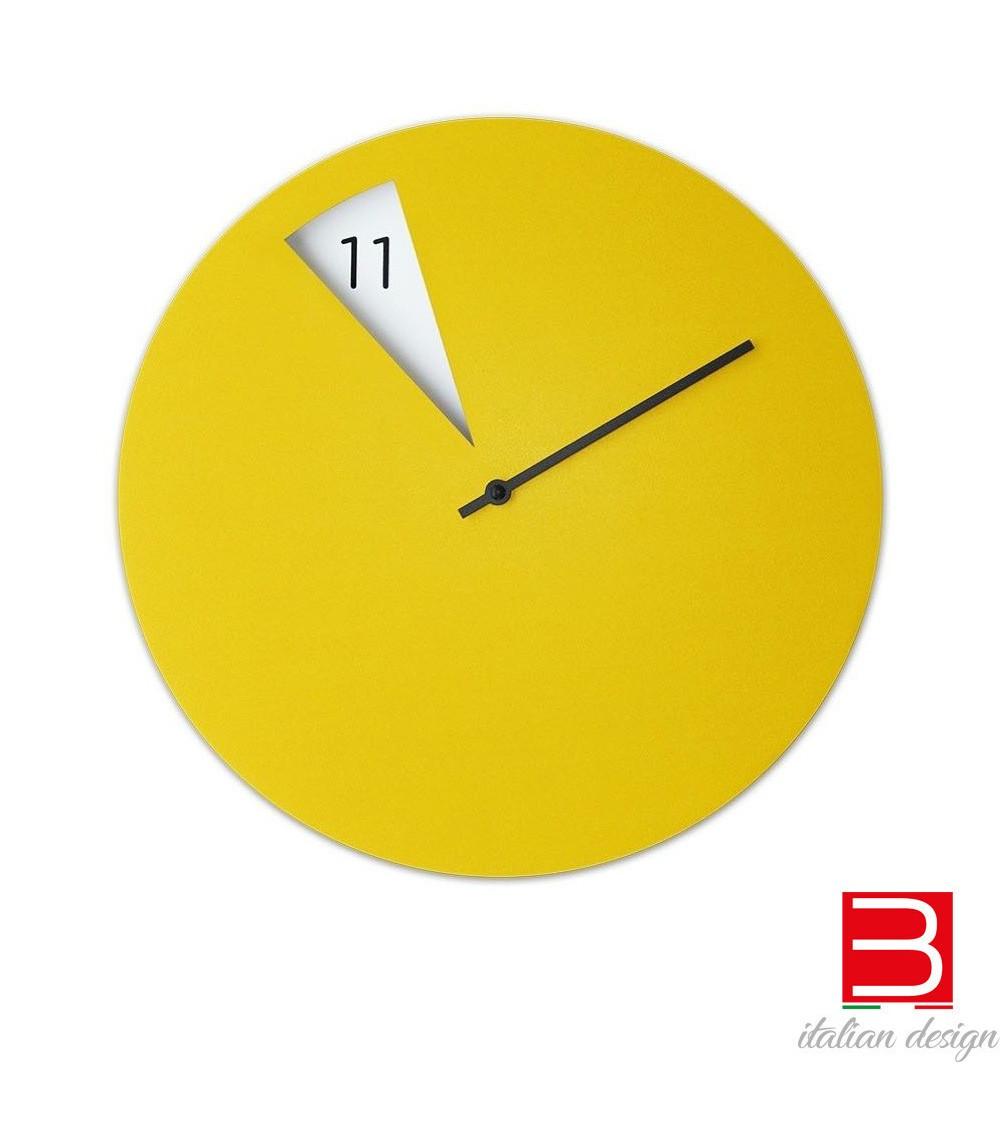Orologio da parete Sabrina Fossi FreakishCLOCK giallo