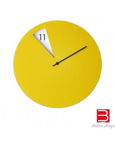 reloj de pared Sabrina Fossi FreakishCLOCK amarillo