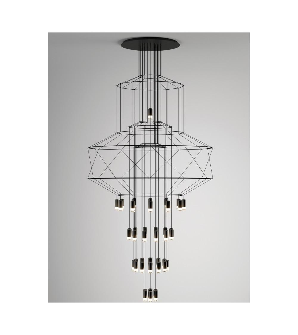 lámpara de suspensión Vibia wireflowChandelier 0375