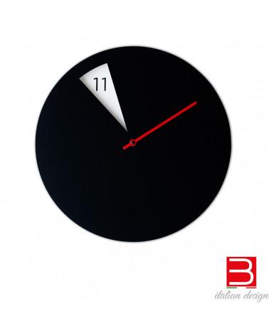 reloj de pared Sabrina Fossi FreakishCLOCK black/red